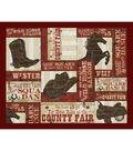Novelty Cotton Fabric Panel 44\u0022-Wild West