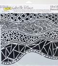 Crafter\u0027s Workshop Gabrielle Pollacco Template 12\u0027\u0027x12\u0027\u0027-Crazy Waves
