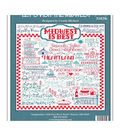 Imaginating Counted Cross Stitch Kit 10\u0022X11\u0022-Let\u0027s Visit The Midwest
