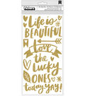 Amy Tan Hustle & Heart Thickers Stickers 5.7\u0022X13\u0022-Phrase