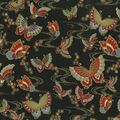 Premium Quilt Cotton Fabric-Multi Butterflies Black Metallic