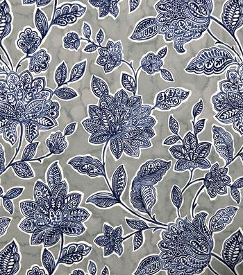 Stretch Chiffon Fabric 57''-Boho Floral on Gray