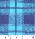 Anti-Pill Fleece Fabric 57\u0022-Bedford Teal Plaid