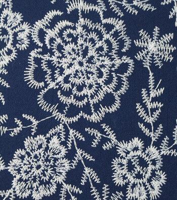 Amaretto Linen Fabric -Navy