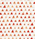 Keepsake Calico Cotton Fabric-Orange Shaded Triangle