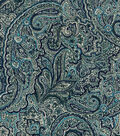 Vintage Cotton Fabric 43\u0022-Packed Paisley Blue