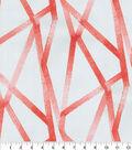 Genevieve Gorder Outdoor Fabric 9\u0022x9\u0022 Swatch-Intersections Coral