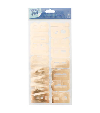Poster Shop 94 pk Cardstock Stickers with Gold Foil Accents-Alphabet