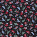 Christmas Cotton Fabric-Winter Mittens On Black