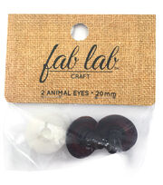 Shank Back Animal Eyes 20mm 2/Pkg-Brown, , hi-res