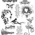 Tim Holtz Large Cling Rubber Stamp Set-Urban Chic
