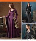 Simplicity Patterns 1137-Misses\u0027 Medieval Fantasy Costumes