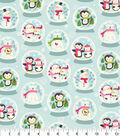 Snuggle Flannel Fabric 42\u0027\u0027-Snowglobe Friends