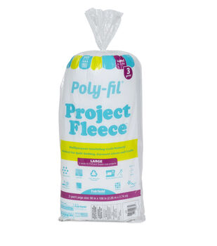 """Poly-Fil Project Fleece Needle Punched Batting 90""""x108"""""""