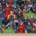 Marvel Avengers Cotton Fabric-Avengers Packed Digital
