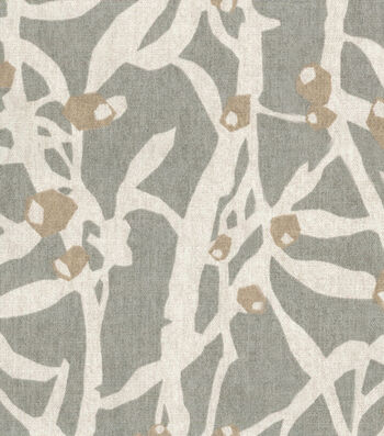 "Home Essentials Decor Fabric 45""-Origami Branch Platinum"