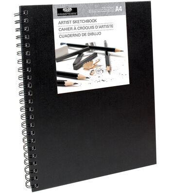 "Royal Langnickel 8""x12"" Sketchbook-Spiral Black"