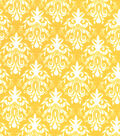 Quilter\u0027s Showcase Fabric 44\u0027\u0027-Amber Yellow Damask