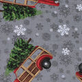 Christmas Cotton Fabric-Bringing The Tree Home