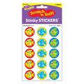 School Fish-Sea Breeze Stinky Stickers 12 Packs