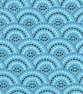 Snuggle Flannel Fabric -Peacock Dotted Scales