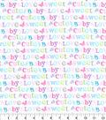 Nursery Flannel Fabric 42\u0022-Sweet Baby Love Words