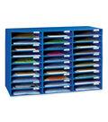 Classroom Keepers Mailbox, 30-Slot, Blue, 21\u0022H x 31-5/8\u0022W x 12-3/4\u0022D