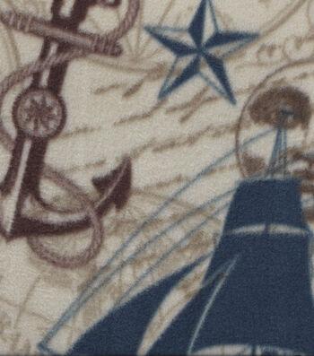 """Anti-Pill Fleece Fabric 60""""-Compass Ocean"""