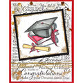 Stampendous Cling Rubber Stamp Cap & Scroll