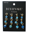 hildie & jo Boulevard 12 Pack Gold Charms-Blue Round Beads