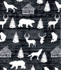 Snuggle Flannel Fabric-Forest Animals