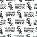 Chicago White Sox Cotton Fabric -Tossed Print