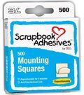 Scrapbook Adhesives Mounting Squares-500PK/Repositional