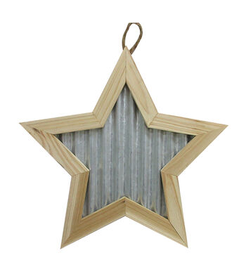 Unfinished Framed Wood/Metal Wall Décor-Star