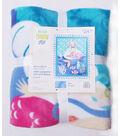No Sew Fleece Throw 48\u0027\u0027x60\u0027\u0027-Watercolor Mermaid