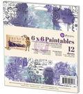 Prima Marketing French Riviera 6\u0027\u0027x6\u0027\u0027 Paintables Watercolor Paper Pad