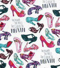 Novelty Cotton Fabric-The Higher The Heels