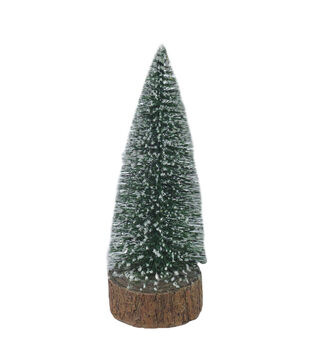 Handmade Holiday Christmas Small Frosted LED Tree Tabletop Decor