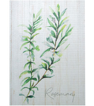 In the Garden 5.5''x7.25'' Wood Block Wall Decor-Rosemary