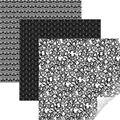 Cricut 12\u0027\u0027x12\u0027\u0027 Removable Matte Patterned Vinyl Samplers-Black Filigree