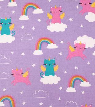 Super Snuggle Flannel Fabric-Caticorn