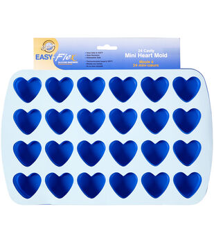 Wilton Easy-Flex Silicone Heart Mold, 24-Cavity