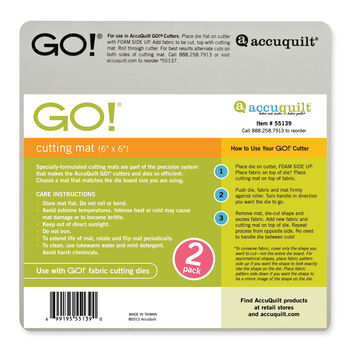AccuQuilt 2 pk  6''x6'' Go! Cutting Mat
