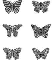 Tim Holtz Idea-ology 6 pk Butterfly Adornments, , hi-res