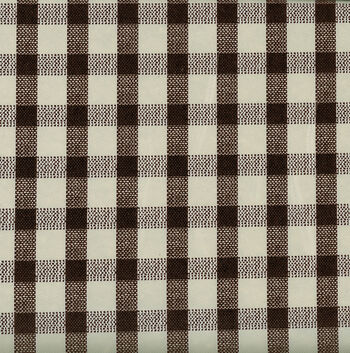 Tablecloth Vinyl-Woven Gingham Black