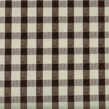 Tablecloth Vinyl-Woven Gingham Black