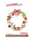 CottageCutz Die  -Whimsical Holiday Wreath 3.5\u0022X3.7\u0022