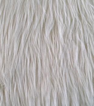 Faux Long Hair Grizzly Fur Fabric -Cream