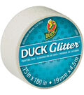 Duck Glitter Mini Tape .75\u0022x15`-White