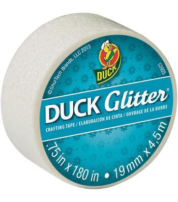 """Duck Glitter Mini Tape .75""""x15`-White"""